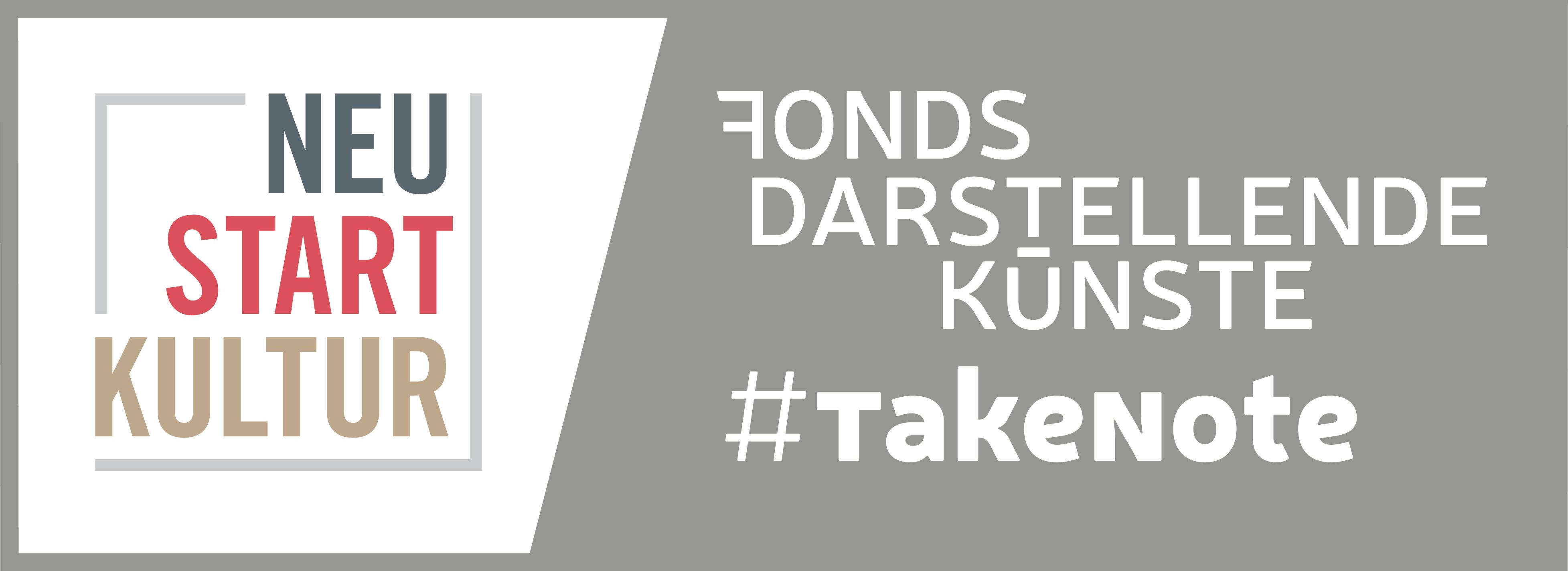 Logo von Fonds Darstellende Künste - Projekt #TakeNote
