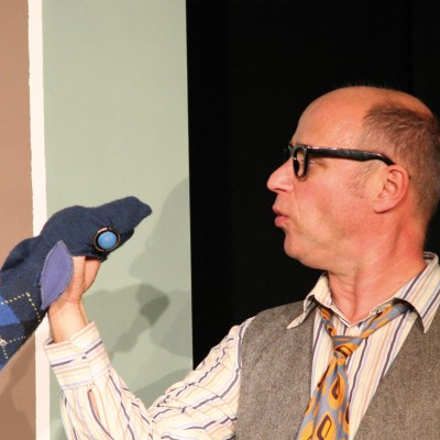 Heribert Schnelle und seine Forelle